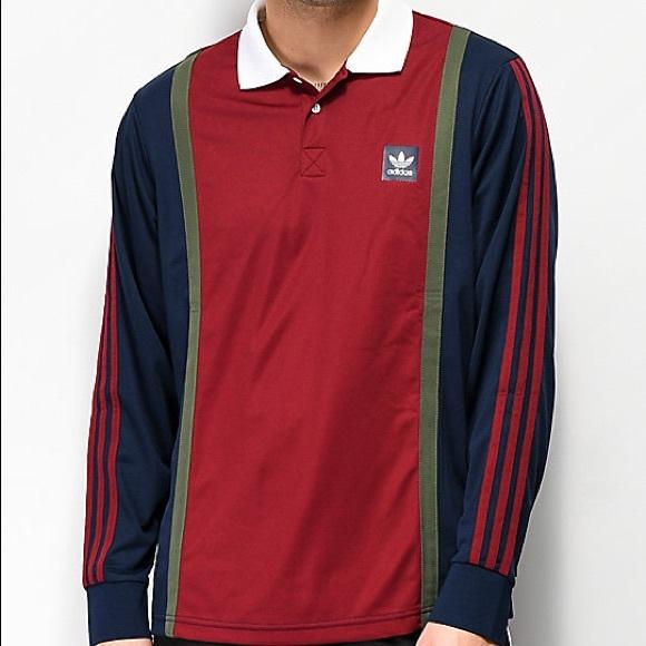 cicatriz Oblongo chico  adidas Shirts | Adidas Rugby Jersey Shirt | Poshmark